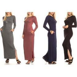 7b25469732a Nelly Women s Long Sleeve Maxi Dress with Pockets. Plus Sizes Available  found on MODAPINS from