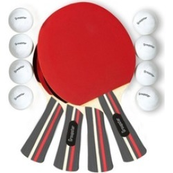 Table Tennis Rackets and Balls Set (12-Piece)