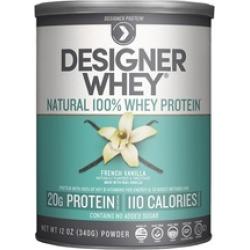 Designer Whey Premium Natural 100% Whey Protein, French Vanilla, 12Oz