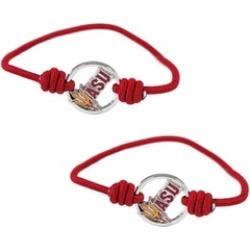 Sports Team Logo Set of 2 Stretch Bracelets Hair Ties - NCAA