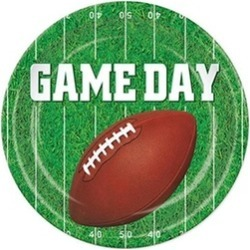 Beistle 58034 Game Day Football Plates Pack Of 12