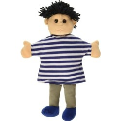 Sunny Toys PP5661 12 In. Black Haired Boy, Palm Puppet