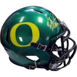 Autographed LaMichael James Oregon Ducks Green Speed Mini Helmet