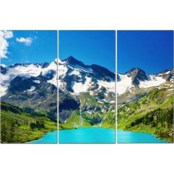 "Split Canvas Art Set 12""x24"" 3 Pieces Mountain With A View"