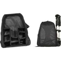 Durable and Padded Construction Black Camera Backpack