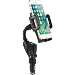 Rotatable Dual USB Charger Car Windshield Mobile Phone Mount Holder