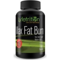 Lyfetrition Max Fat Burn 120 Ct Bottle