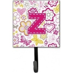Carolines Treasures CJ2005-ZSH4 Letter Z Flowers And Butterflies Pink Leash & Ke