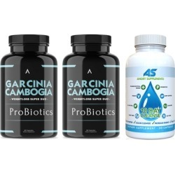 Angry Supplements Garcinia Cambogia with ProBiotics (2-Pack) and 10-Day Cleanse