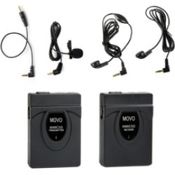 Movo 2.4GHz Wireless Lavalier Microphone System for Camera 164' Range