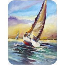 Carolines Treasures JMK1159LCB Horn Island Sailboat Race Glass Cutting Board