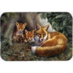 Carolines Treasures BDBA0283LCB A Family of Foxes at Home Glass Large Cutting Bo