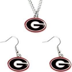 Sports Team Logo Necklace and Dangle Earring Charm Set NCAA