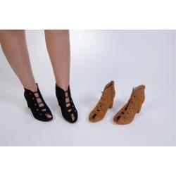 "N Demand Shoes ""Mizuki' Women's peep-toe fashion bootie LA241-1"