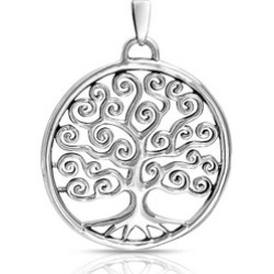 Bling Jewelry 925 Silver Celtic Swirl Circle Tree Of Life Pendant