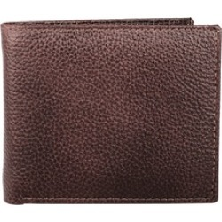 10 Credit card SD/SIM Card Slots Genuine Leather Brown Men's Wallet