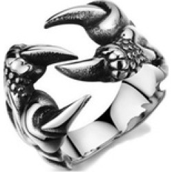 Biker Dragon Claw Rings For Men