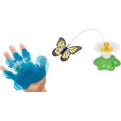 Electric Rotating Butterfly Cat Toys Cat Grooming Brush is Free