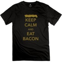 Ytaze Keep Calm And Eat Bacon Adult Tee