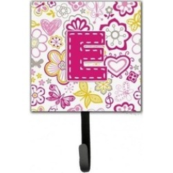 Carolines Treasures CJ2005-ESH4 Letter E Flowers And Butterflies Pink Leash