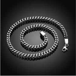 Solid Stainless Steel Grape Vine Men's Chain Necklace found on MODAPINS from groupon for USD $22.99