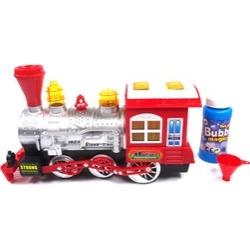 Bubble Blowing Toy Train - Battery Powered Steam Bubbles Locomotive En
