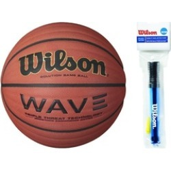 "Wilson Wave Official Solution Game Basketball 29.5"" w/ Pump"
