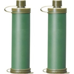Military Green Water Filter Purification Emergency Life Gear Straw
