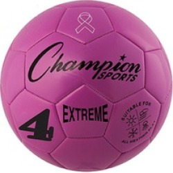 Champion Sports EX4PK 8.25 in. Extreme Series Size 4 Soccer Ball, Pink