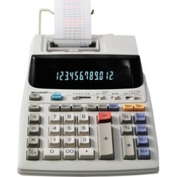 Sharp EL-1801V 12-Digit 2-Color Compact Printing Calculator