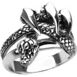 Sterling Silver Serpent Claws Ring