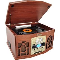 Pyle Home PTCDS7UBTBW Retro Vintage Turntable Vinyl Record Players