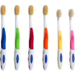 Mouth Watchers NS-706F Antimicrobial Adult Youth Toothbrush