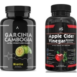 Angry Supplements Garcinia Cambogia with Biotin and Apple Cider Vinegar Weight Loss Supplement Set