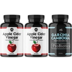 Angry Supplements Apple Cider Vinegar with Garcinia ProBiotics (3-Pack)