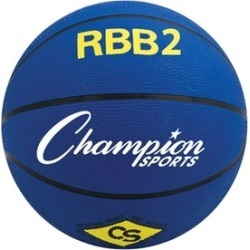 Champion Sports RBB2BL 27.5 in. Pro Rubber Basketball Royal Blue