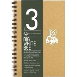 Bee Paper B204CB50-609 9 x 6 in. Big White Bee Jet Black Charcoal & Pastel Paper