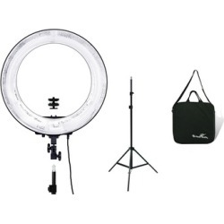 "Dimmable Photography 18"" Ring Light Kit Stand w/Carry Bag"