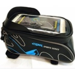 Mobile Phone Touch Screen Bicycle Frame Bag for 6.0 inch or less phone - Blue