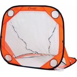 Champion Sports Portable Pop Up Lacrosse Goal - Orange, 4 X 4 Ft.