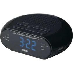 RCA RC207 USB Digital Clock Radio, Black