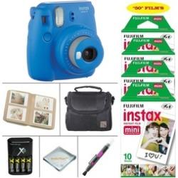Fujifilm Instax Mini 9 Camera plus 50 SHEETS Instant Film plus Accessories