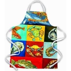 Carolines Treasures MW1250APRON Mixed Seafood Apron