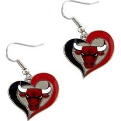Sports Team Logo NBA Swirl Heart Shape Dangle Logo Earring Set Charm Gift