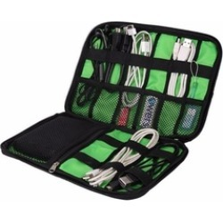 Multi-Compartment Gadgets & Electronics Organizer Bag/Pouch With Zip
