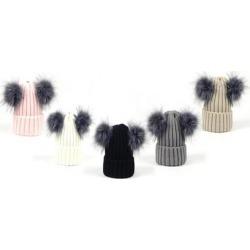 Women's Double Pompom Winter Hat