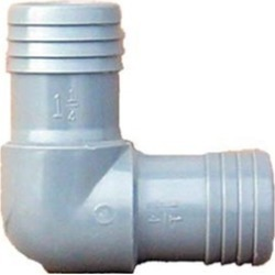 Genova Products 2 in. Poly 90 degrees Insert Elbow