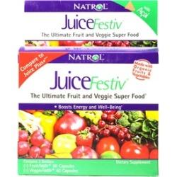 Natrol JuiceFestiv Fruit and Vegetable Supplements (120 Capsules)