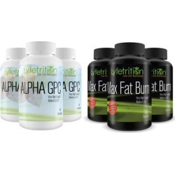 3 Lyfetrition Alpha GPC Premium Nootropic with 3 Max Fat Burn