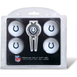 Team Golf 31206 Indianapolis Colts Pack of 4 Golf Balls and Divet Tool